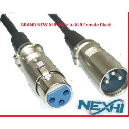 Nexhi 6 feet Mic Patch Cords Cables XLR Male to XLR Female Black - 6 feet Balanced Mike Snake Cord