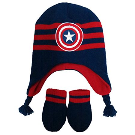 Marvel - Marvel Boys  Infant Captain America Hat and Mitten Set Size Infant   4014  - Walmart.com a3709ef724e