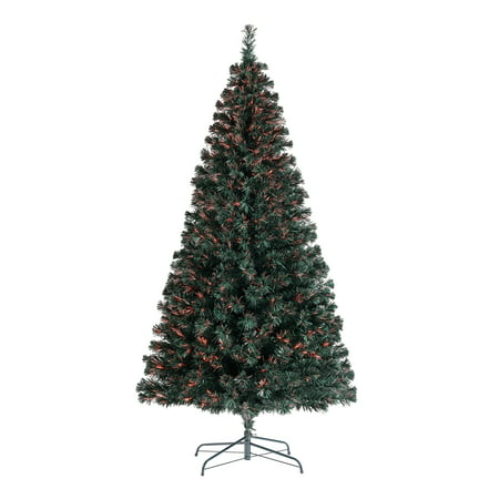 Holiday Time Pre-Lit Fiber Optic Artificial Christmas Tree, 7', Multi-color ()