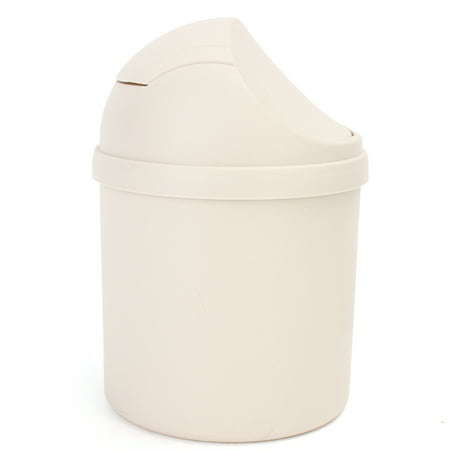 Meigar Cute Mini Small Waste Bin Desktop Garbage Basket Table Trash Can Roll Swing Lid Home