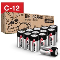Energizer MAX C Batteries, Alkaline C Cell Batteries (12 Pack)