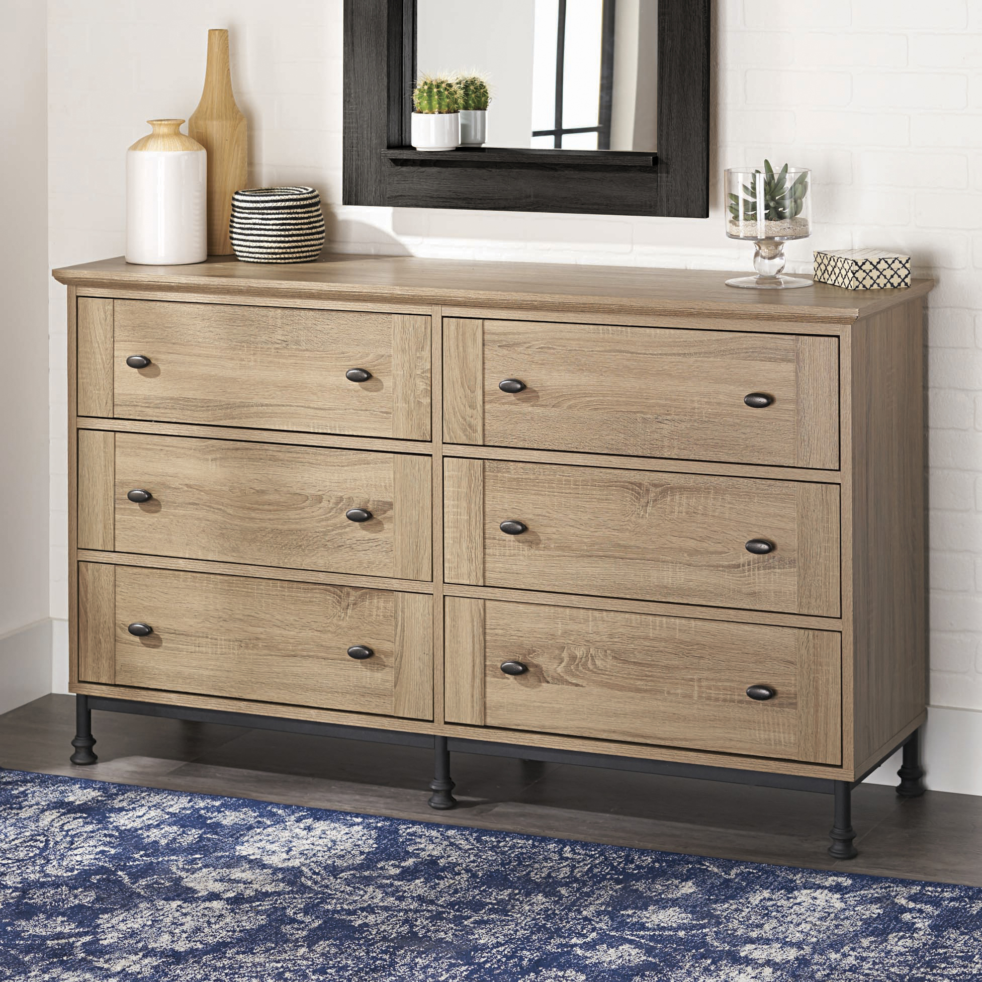 Better Homes and Gardens River Crest 6-Drawer Dresser, Scenic Oak Finish by Sauder Woodworking