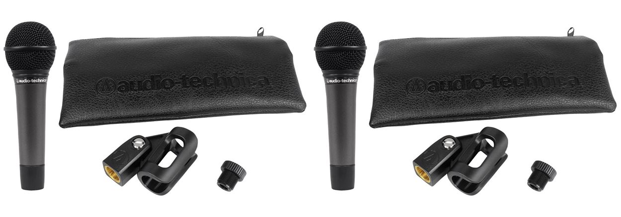 (2) Audio Technica ATM510 Cardioid Dynamic Handheld Vocal Microphone ATM 510 Mic by Audio Technica