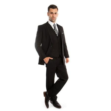 New 54l Mens Suit - Mens Tuxedo Suit Set 3 Piece Suits with Collar Vest Plus Free Socks