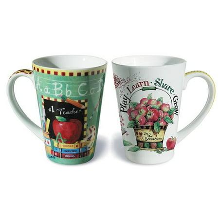 - The Holiday Aisle 2 Piece Teacher Fine Porcelain Gift Mug Set