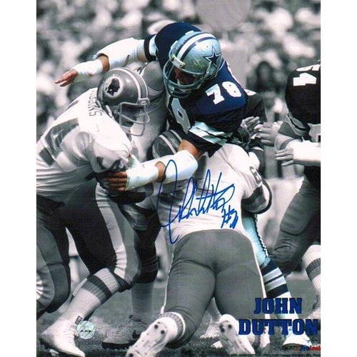 NFL - John Dutton Autographed Dallas Cowboys 8x10 Photograph