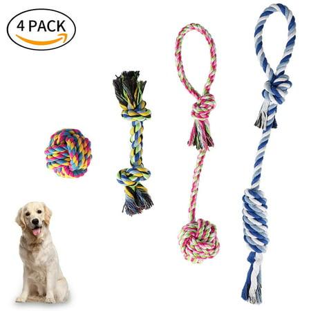 LNKOO 4 Park Dog Toys - Dog Chew Toys - Puppy Toys - Small Dog Toys - Chew Toys - Dog Toy Pack - Tug Toy - Puppy Teething Toys- Puppy Chew Toys - Rope Dog -Toy Dog Toy Set - Washable Cotton (Dog Parka)