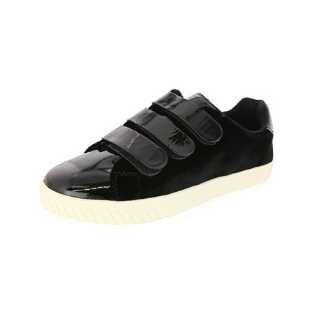 Tretorn Women's Carry 4 Velvet Patent Leather Nero / Black Ankle-High Fashion Sneaker - 5M Patent Leather High Top