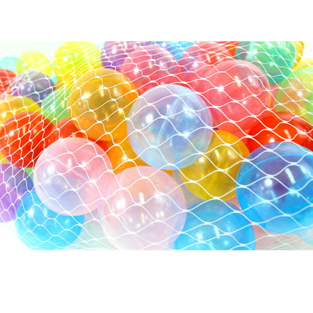 (Pack of 100) Clear Phthalate Free, Crush-Proof Pit Balls (Plastic Balls For Sale)