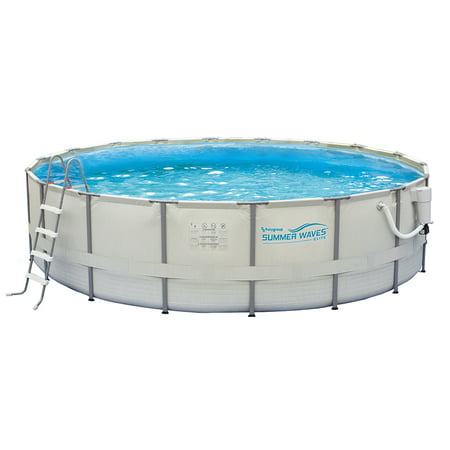 Summer Waves Elite 15-ft Round 48-in Deep Metal Frame Swimming Pool Package Deep Swimming Pool Package