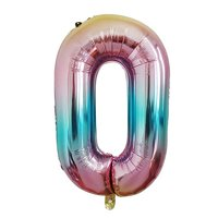 40inch Foil Number Balloon For 2020 New Year's Eve Birthday Christmas Party Wedding Decorations Graduation, Gradient Rainbow Color