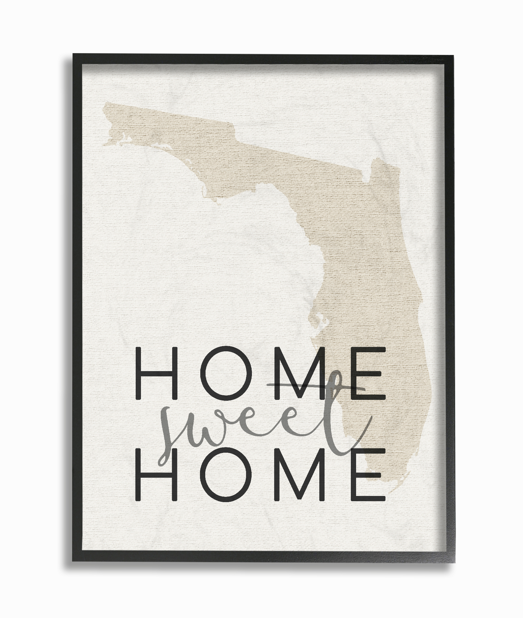 The Stupell Home Decor Collection Home Sweet Home Florida Typography Framed Giclee... by Stupell Industries