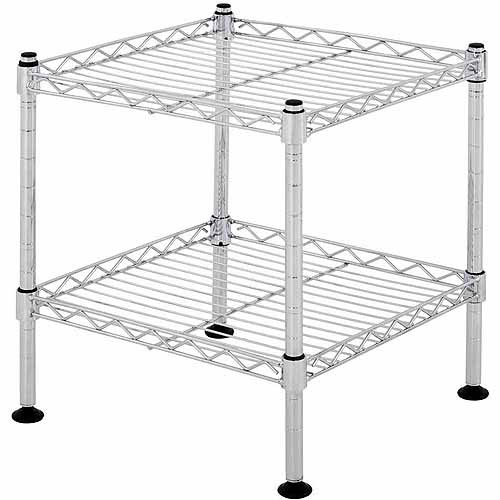 "Muscle Rack 12""W x 12""H x 12""D 2-Shelf Light Duty Wire Shelving Unit in Chrome"