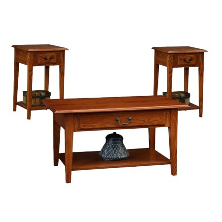 Favorite Finds 2 Piece Coffee Table and Set of 2 Square End Table in Medium Oak - image 9 de 9