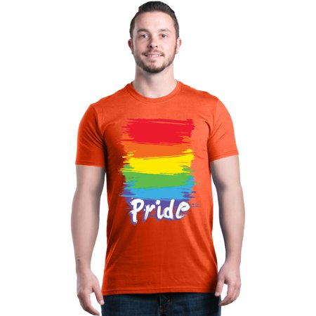 Shop4Ever Men's Pride Neon Rainbow LGBTQ Gay Rights Graphic T-shirt