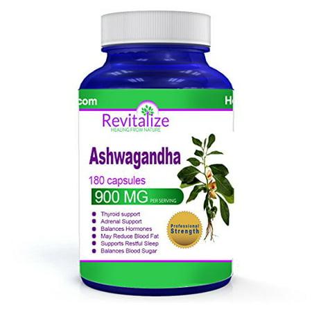 Ashwagandha 180 Caps - 900 MG - Thyroid & Hormone & Adrenal
