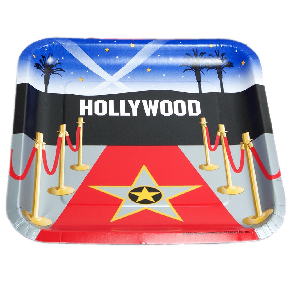 "Reel Hollywood 9"" Plates"