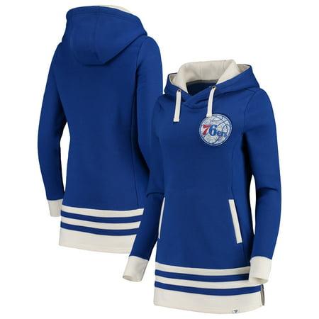 Philadelphia 76ers Fanatics Branded Women's True Classics Pullover Tunic Hoodie - - Adidas Philadelphia 76ers Sweatshirt