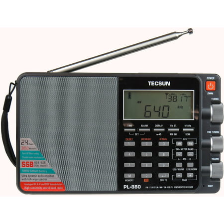 Tecsun PL880 Portable Digital PLL Dual Conversion AM/FM, Longwave & Shortwave Radio with SSB (Single Side Band) (Best Cheap Shortwave Radio)