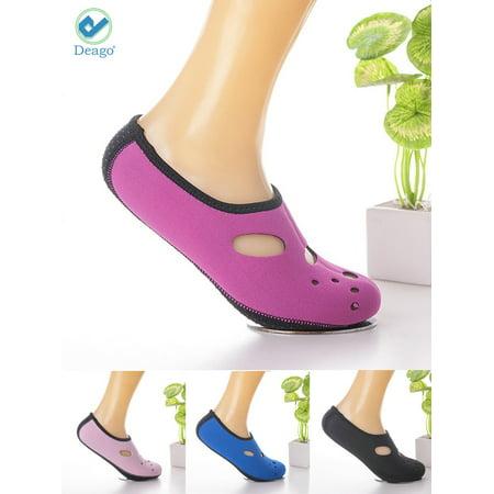 Deago Men Women Water Shoes Athletic Sport Beach Walking Shoes Mesh Socks For Swim Surf Yoga (Best Shoes For Walking In Water)