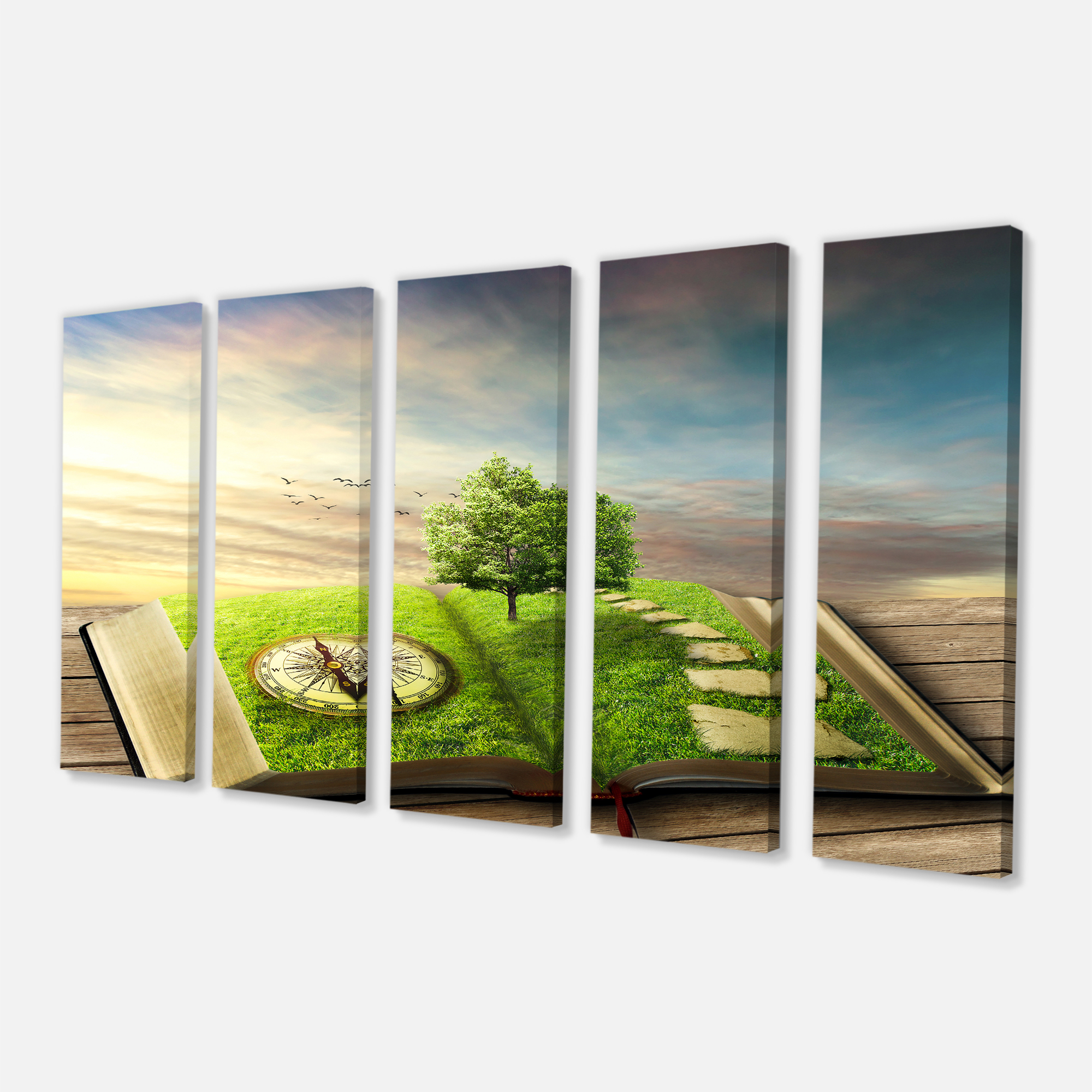 Book of Life with Greenery - Landscape Canvas Art Print - image 2 de 3