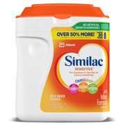 Similac Sensitive For Fussiness and Gas Infant Formula with Iron, Baby Formula 34 oz, 2 Count