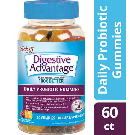 Digestive Advantage Probiotic Gummies - Survives Better than 50 Billion - 60 (Best Probiotic For Regularity)