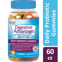 Digestive Advantage Daily Probiotic Gummies, Natural Fruit Flavors - 60 Gummies