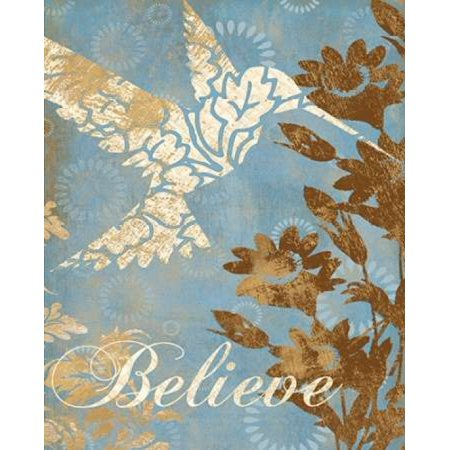 Believe Silhouette Poster Print By Piper Ballantyne