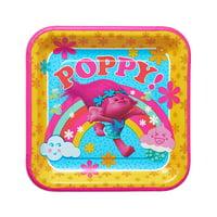 Dreamworks Trolls Poppy Birthday Girls 9 inch Party Plates 16 Count NEW Set