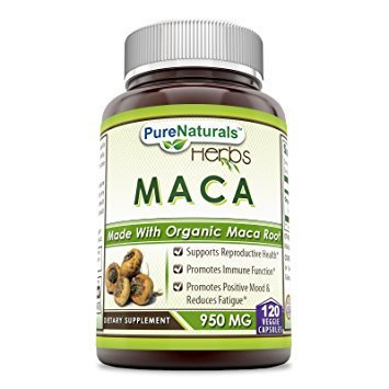 Pure Naturals Maca 950 Mg 120 Veggie Capsules - Made with Organic Maca
