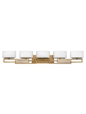 Hinkley Lighting 5105 5-Light Bathroom Vanity Light from the Lanza Collection