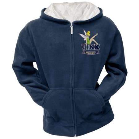 Tinkerbell - Classic Sport Women's Blue Zip Hoodie Blue Zip Hooded Sweatshirt