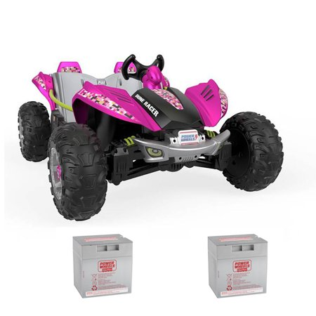 Power Wheels Ride On Toy Car & (2) 12 Volt Rechargeable Replacement Batteries