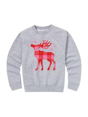 Bright Patterned Reindeer - Toddler Crew Fleece