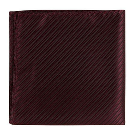 Matching Tie Guy 2915 R10 PS - 12 x 12 in. Matching Pocket Square - Red With Black Pinstripe
