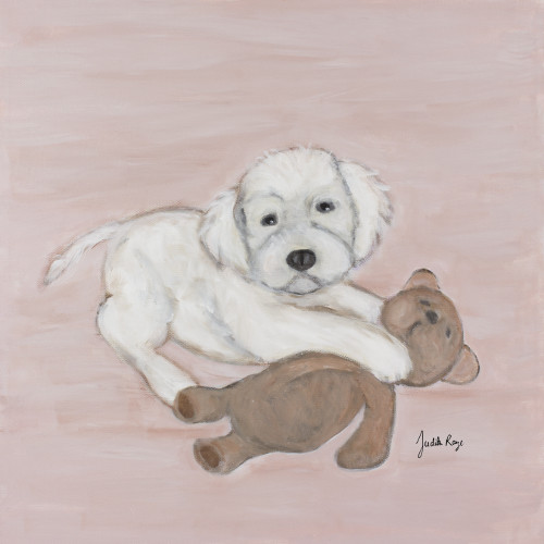 Judith Raye Paintings LLC Puppy Liam's Bear Wall D cor