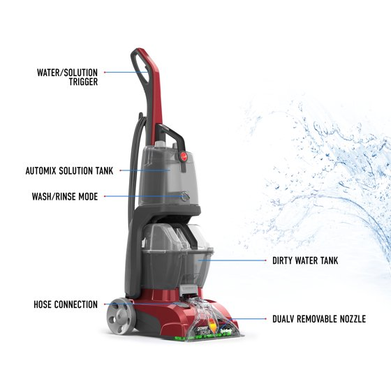 Hoover Power Scrub Deluxe Carpet Cleaner Fh50150 Walmart Com