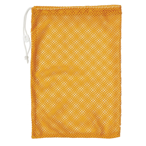 "Champion Sports 12x18"" Heavy Duty Nylon Mesh Equipment Bag w  Drawstring, Gold by Champion Sports"