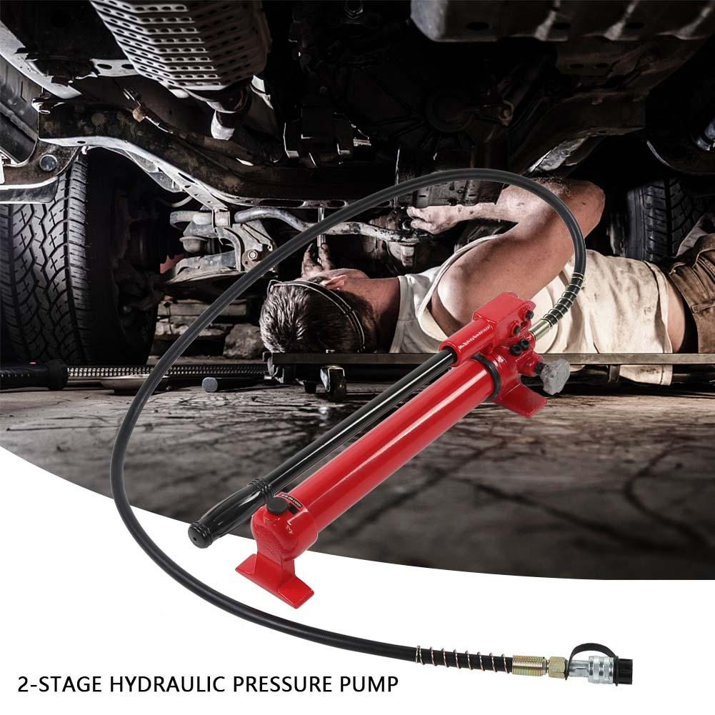 Portable 2 Stage High Pressure Hand Hydraulic Pump 700cc 10000PSI Hydraulic Pump Manual Hydraulic Pump