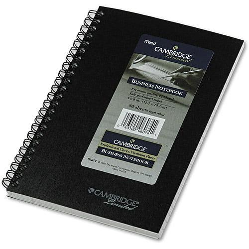Mead Cambridge Subject Wirebound Business Notebook