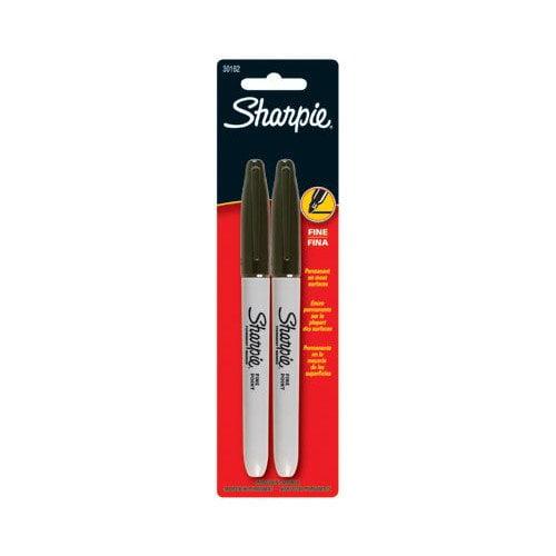 Sharpie Sharpie - Sharpie Fine Point Permanent Markers Sharpie Black 2 Ct Finetip Marker: 586-30162Pp - sharpie black 2 ct finetip marker (Set of 6)