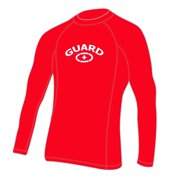 Adoretex Men's Guard Rashguard UPF 50+ Swimwear Swim Shirt (RSG05M) - Red - Small
