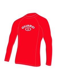b5524f085f9ff Adoretex Men s Guard Rashguard UPF 50+ Swimwear Swim Shirt (RSG05M) - Red -