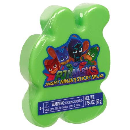 PJ Masks Sticky Splat Putty - Green - Dark Night Of The Scarecrow Mask