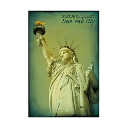 Statue of Liberty Green Tones - New York City, New York Print Wall Art By Lantern Press