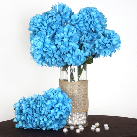Efavormart 56 Large Chrysanthemum Mums Ballsfor DIY Wedding Bouquets Centerpieces Arrangements Party Home Decorations - 4 bushes