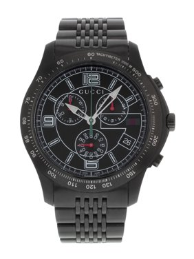 74e87cf046a Product Image Gucci 126 YA126217 Tachymeter Stainless Steel Black PVD  Quartz Mens Watch
