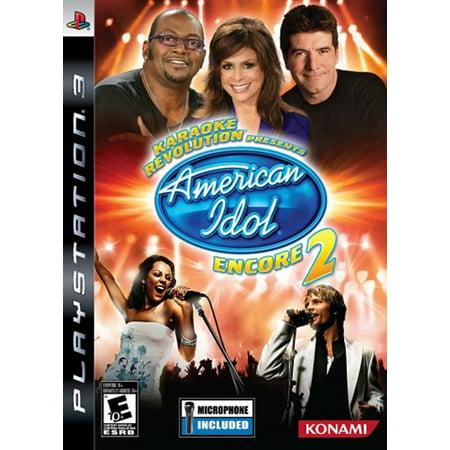 Karaoke Rev American Idol Encore 2 Bundle PS3 (Ps3 Karaoke Games)