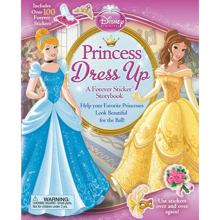 Disney Princess: Princess Dress Up : A Forever Sticker - Halloween Stories For Children Disney